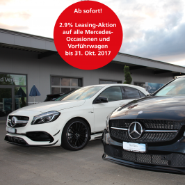 Mercedes-Occasionen: 2.9% Leasing-Aktion